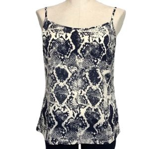 The Limited Navy Snake Skin Print Tank Top Size L